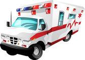 Cartoon ambulance — Stock Vector