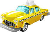 Cartoon taxi — Stock Vector