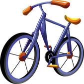 Cartoon bike — Stock Vector