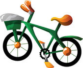 Cartoon bike — Stock Vector