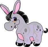 Cartoon donkey — Stock Vector