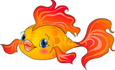 Cartoon gold fish — Stock Vector