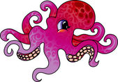 Cartoon octopus — Stock Vector
