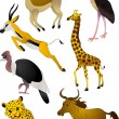 Cartoon animals vector - Vettoriali Stock