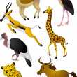 Cartoon animals vector - Stockvectorbeeld