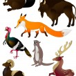 Stock Vector: Cartoon animals vector