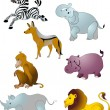 Cartoon animals vector — Stock Vector #18231817