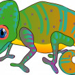 Cartoon chameleon — Stock Vector