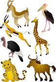 Vecteur de dessin animé animaux — Vecteur