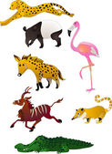 Cartoon animals vector — Stock Vector