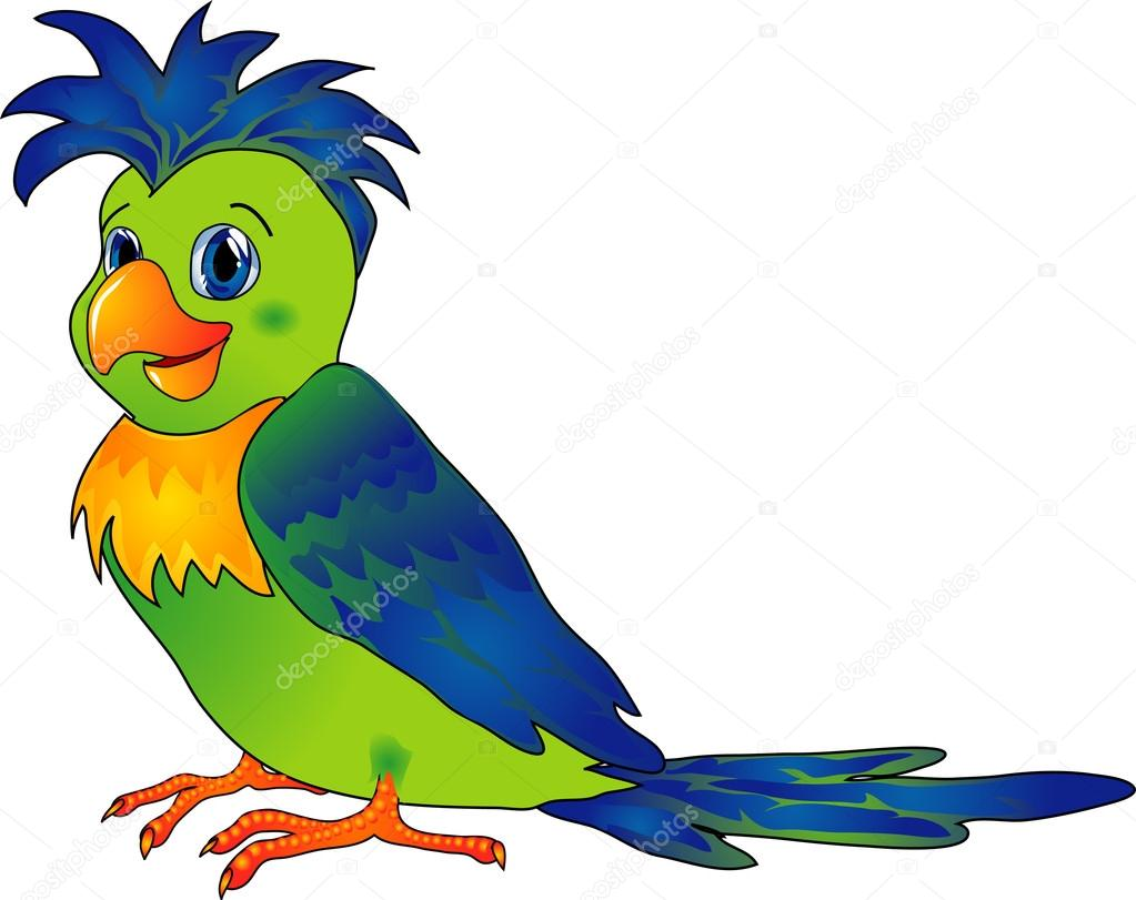 Parrot Cartoon Pictures Parrot in Cartoon Style as a