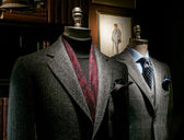 Two Mannequins in Coat and Suit — Stok fotoğraf