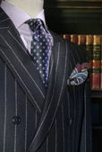 Striped Jacket with Purple Shirt and Tie (Vertical) — Stock Photo