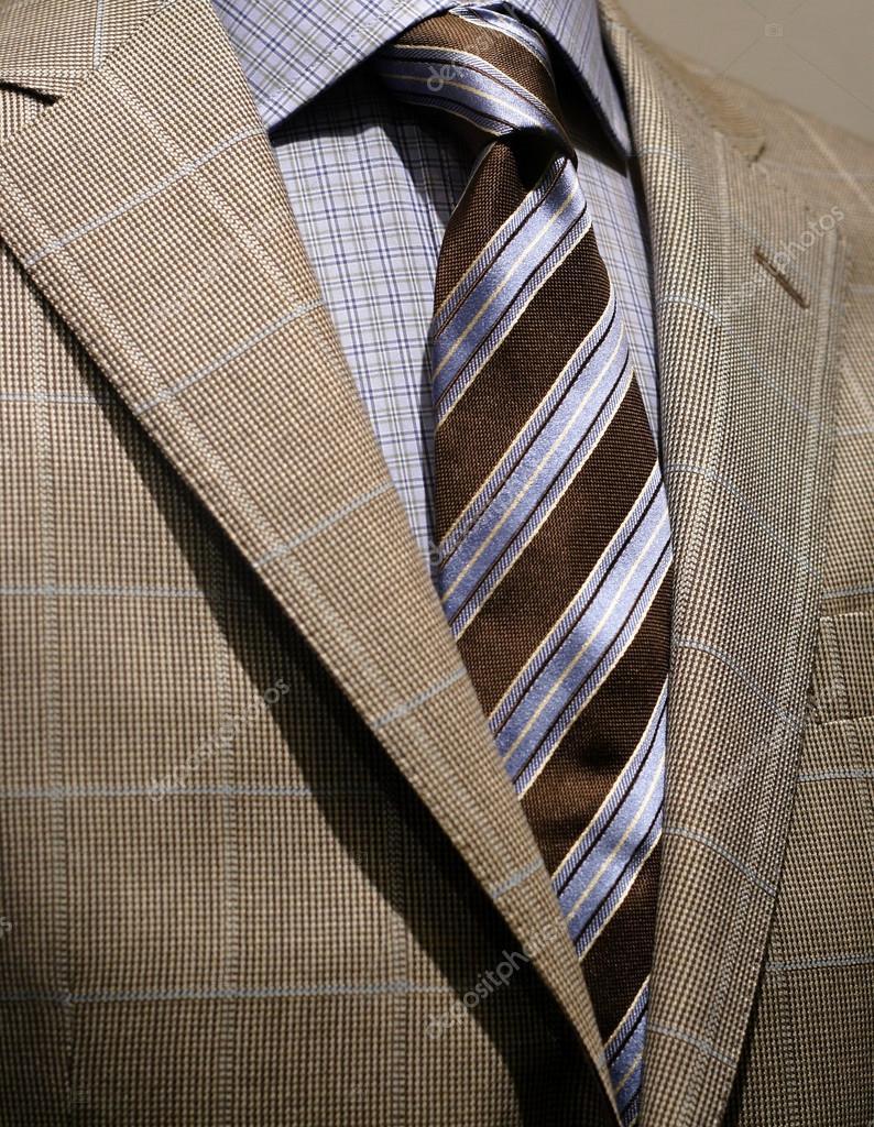 leichte grau karierten jacke blaues hemd und krawatte stockfoto 17439833. Black Bedroom Furniture Sets. Home Design Ideas