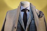 Beige Coat & Checkered Jacket — Stock fotografie