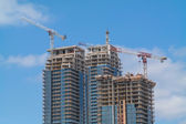 New High-rise Buildings Under Construction — Stock Photo