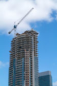New High-rise Building Under Construction — Stock Photo