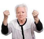 老女人 — 图库照片
