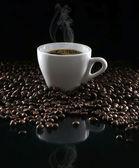 Café et haricots — Photo