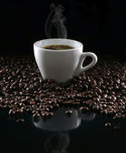 Coffee and beans — 图库照片