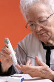 Diabetes. Senior Health — Stock Photo