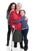 Three generations of women — Stock Photo