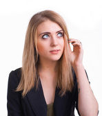 Thoughtful young girl — Stock Photo