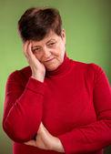 Pensive woman — Стоковое фото