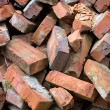 Red bricks pile — Stock Photo