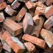 Red bricks pile - Stockfoto