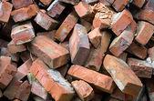 Red bricks pile — Stock Photo