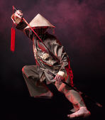 Asian warrior — Stock Photo