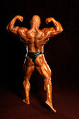 The bodybuilders back — Stock Photo