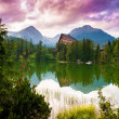 Mountain lake Strbske pleso, High Tatras, Slovakia — Foto de Stock
