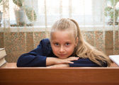 Little schoolgir — Stock Photo