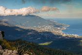 View from Ai-Petri mountain, Crimea, Ukraine — Stock Photo