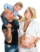 Famiglia bello felice — Foto Stock