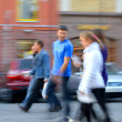 People on urban city street — Stock Photo