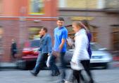 People on urban city street — Stock Photo