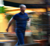 Man in a hurry — Stock Photo