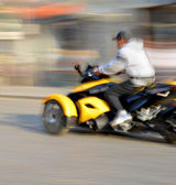 Motorcyclist in motion — Stock Photo