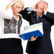 Shocked business people  — Stock Photo