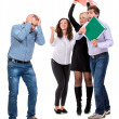 Group of angry business people — Stock Photo