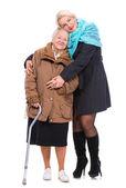 šťastná babička s vnučkou — Stock fotografie