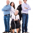 Grandmother with grandchildren — Stock Photo
