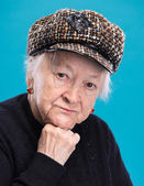 Portrait of old woman — Stock Photo