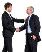 Handshake of two businessmen — Stock Photo