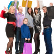 Happy group of shopping people — Stock Photo #38668013