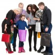 Happy group of shopping people holding bags — Stock Photo #39644739