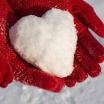 sneeuw hart — Stockfoto